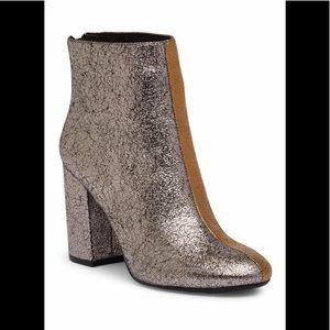 Kenneth Cole NY Cassandra 2tone metallic booties